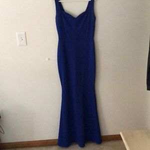 Fitted Blue Formal Gown